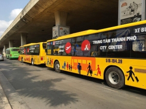 New bus service connecting HCM City Airport, downtown