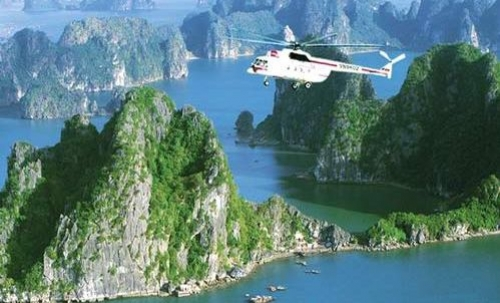 Halong Bay Tours on interesting from a helicopter