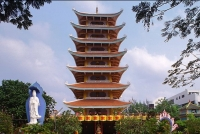 HCM City's Vinh Nghiem Pagoda Boasts of The Tallest Stone Tower of Vietnam