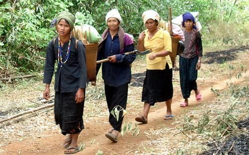 Enjoy to space of festival in the Xtieng ethnic group
