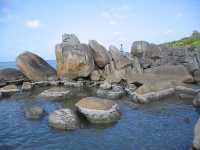 A natural rock-garden among the immense sea