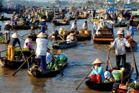 Cai be floating market, a unique cultural characteristic of water regions